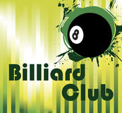 Black billiard ball Royalty Free Stock Image