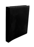 Black binder. Spiral black binder isolated on white Royalty Free Stock Photos