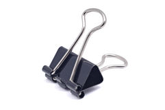 Black binder clip Royalty Free Stock Photos