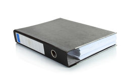 Black binder stand alone Stock Photo