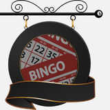Black bingo cafe sign and banner Stock Photography