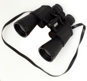Black binoculars Stock Image