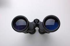 Black binoculars. On a white background Stock Image