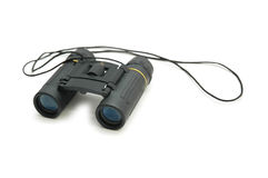 Black binoculars isolated Stock Images