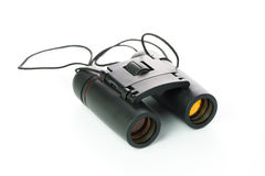 Black binoculars isolated Royalty Free Stock Image