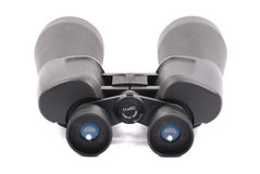 Black binoculars isolated on white Royalty Free Stock Photography