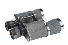 Black binoculars isolated on white Stock Images