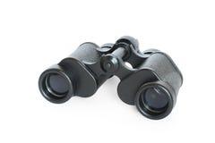 Black binoculars isolated on white. Background Royalty Free Stock Images