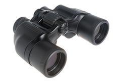 Black binoculars isolated Royalty Free Stock Photography