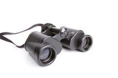 Black binoculars isolated on white Royalty Free Stock Photo