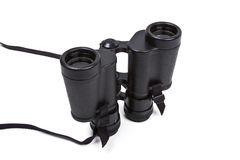 Black binoculars isolated on white Stock Image