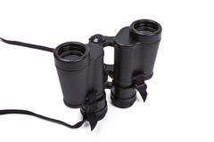 Black binoculars isolated on white Stock Image