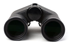 Black binoculars isolated on white background. Focus stacking. Extreme depth of field. Stock Images