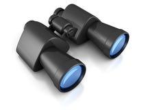 Black binoculars on white background Royalty Free Stock Photos