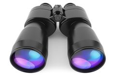Black binoculars  on white background. 3d Royalty Free Stock Photos