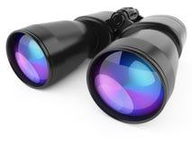 Black binoculars  on white background Stock Images