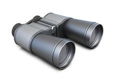 Black binoculars  on white background. 3d rendering Stock Photos