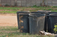The black bins Royalty Free Stock Images