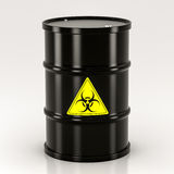 Black biohazard barrel Royalty Free Stock Images