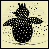 Black bird with dots Stock Photography