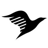 Black Bird Icon Stock Photography