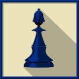Black bishop. Chess. Black bishop on a white background Stock Photo