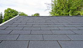 Black bitumen roof shingles Stock Image