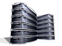 Black Black Servers. Servers for web design and stocks Royalty Free Stock Image