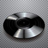 Black black vinyl Stock Photo