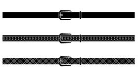 Black and black-white designed vectors belt Stock Photo