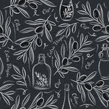 Black blackboard with olive Royalty Free Stock Images