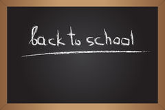 Black blackboard with text Stock Image