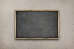 Black blank blackboard with wooden frame on Royalty Free Stock Image