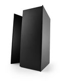 Black Blank Box. On white background, Clipping path included Stock Image
