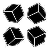 Black Blank Box Set. Vector Royalty Free Stock Images