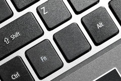 Black blank computer keyboard Stock Photography