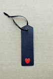 Black blank gift tag with love heart Stock Image