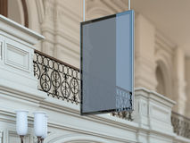 Black blank hanging  billboard. 3d rendering Stock Photography