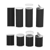 Black Blank Label Snack Can With Pull Tab And Cap, Clipping Path Royalty Free Stock Images