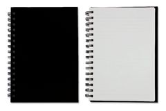 Black Blank Note Book Royalty Free Stock Image