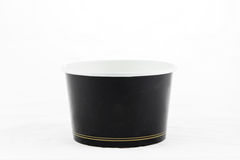 Black Blank Paper Cup Ice Cream Stock Photo