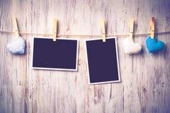 Black blank phote frame Royalty Free Stock Photo