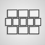 Black blank picture. Frame template poster. Picture frame set. Vector Royalty Free Stock Image