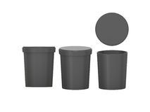 Black  blank Tub Food Plastic Container packaging with clipping Royalty Free Stock Photo