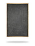 Black blank vertical blackboard with wooden frame Stock Photography
