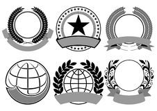 Black blazon set vector Stock Image
