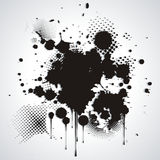 Black blot Stock Image
