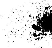 Black blot. On white, vector illustration Royalty Free Stock Photography