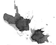 Black blot on a white background Royalty Free Stock Photography