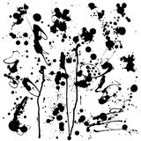 Black blots and ink splashes. Vector illustration. Black blots and ink splashes on white background. Vector illustration Vector Illustration